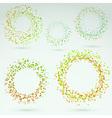 Bright fresh circle round design elements vector image vector image