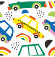 car abstract shape seamless pattern background vector image
