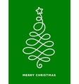 Christmas tree made from loops abstract design vector image vector image