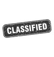 classified stamp classified square grungy black vector image vector image