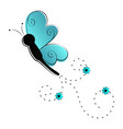 cute butterfly flying icon vector image