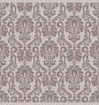 damask seamless pattern background vector image vector image