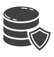 data protection glyph icon seo and development vector image vector image