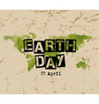 Earth day typography vector image