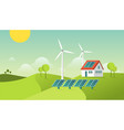 eco friendly modern house green energy vector image