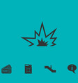 explosion icon flat vector image vector image