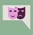 flat icon film mask vector image vector image