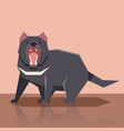 flat tasmanian devil vector image vector image