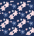 floral seamless pattern with daisy abstract vector image vector image