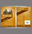 flyer corporate business annual report brochure vector image