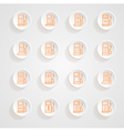 Gas pump Icons button shadows set vector image