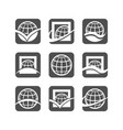 globe logo icons vector image vector image