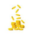 golden coins vector image