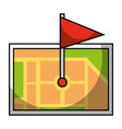 gps navigation map destination pin map flag vector image
