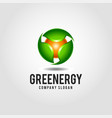green energy - nature energy logo template vector image