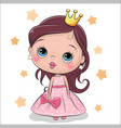 greeting card fairy tale princess vector image vector image