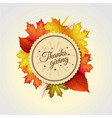 happy thanksgiving day creative typography in a vector image