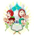 Islam Eid Mubarak Greeting Card vector image
