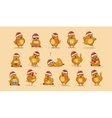 isolated Emoji character cartoon Hen vector image vector image