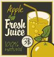juice aple vector image vector image