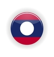 Laos icon circle vector image