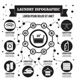 laundry infographic concept simple style vector image vector image
