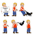little hellion boy set vector image
