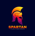logo spartan gradient colorful style vector image vector image