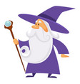 magician and wizard with scepter warlock man in vector image vector image