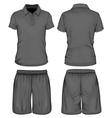 Mens polo-shirt and sport shorts vector image vector image