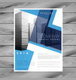 modern blue brochure flyer design template for vector image vector image