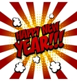 New year Speech comic text red yellow vector image vector image