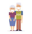 old man woman wearing protective medical mask vector image