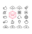 online marketing line icon set for business web vector image