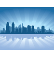 Philadelphia skyline vector image