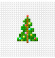 pixel art christmas tree vector image vector image