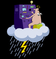 rain cartoon vector image