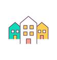 real estate rgb color icon vector image