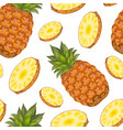 realistic detailed 3d whole pineapple with round vector image