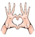 ruka srce bojaG resize vector image vector image