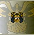 samurai logo mascot vector image vector image