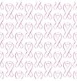 Seamless pattern pink ribbon vector image