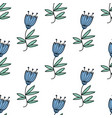 seamless pattern with blue bluebell flowers vector image vector image