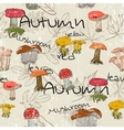Seamless texture with autumn pattern vector image vector image