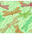 Seamless vintage pattern with dragonflies vector image vector image
