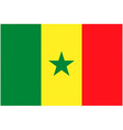 senegalese flag vector image vector image