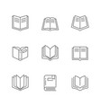 set line icons book vector image vector image
