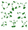 set of ecological leaf arrow on white background vector image vector image