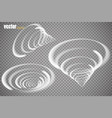 set of magic glowing spark swirl trail effect vector image