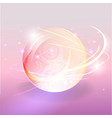 shining magic pink violet bubble with motion vector image vector image